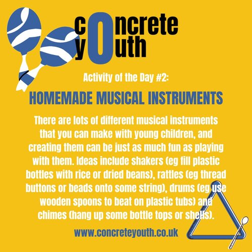 Homemade musical instruments